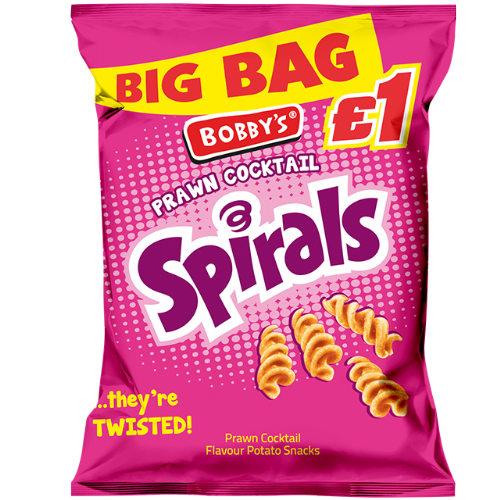Bobby's Spirals Prawn Cocktail £1 Bag (UK)